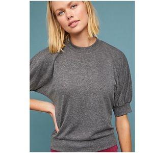 Anthropologie Sweatshirt Tee New XS Top Grey Black